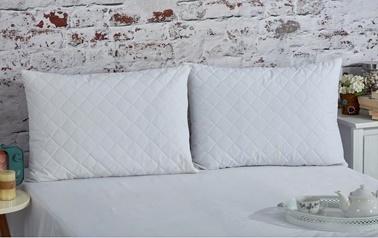 Komfort Home Kapitoneli Pamuklu Yastık Koruyucu 50x70 Cm (2 Adet) Renkli